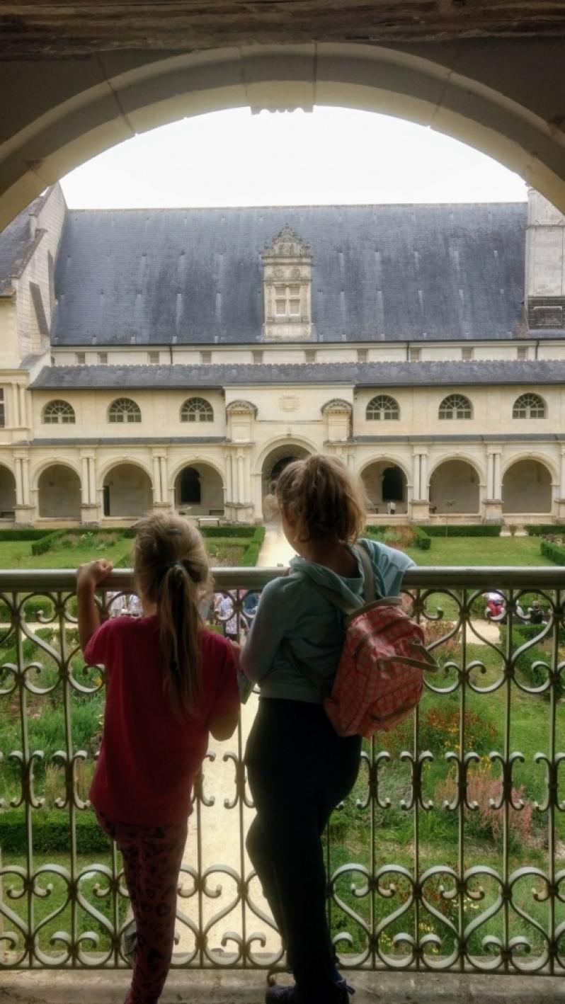 Uitzicht abbaye Fontefraud