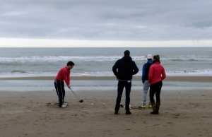 Strand in de winter