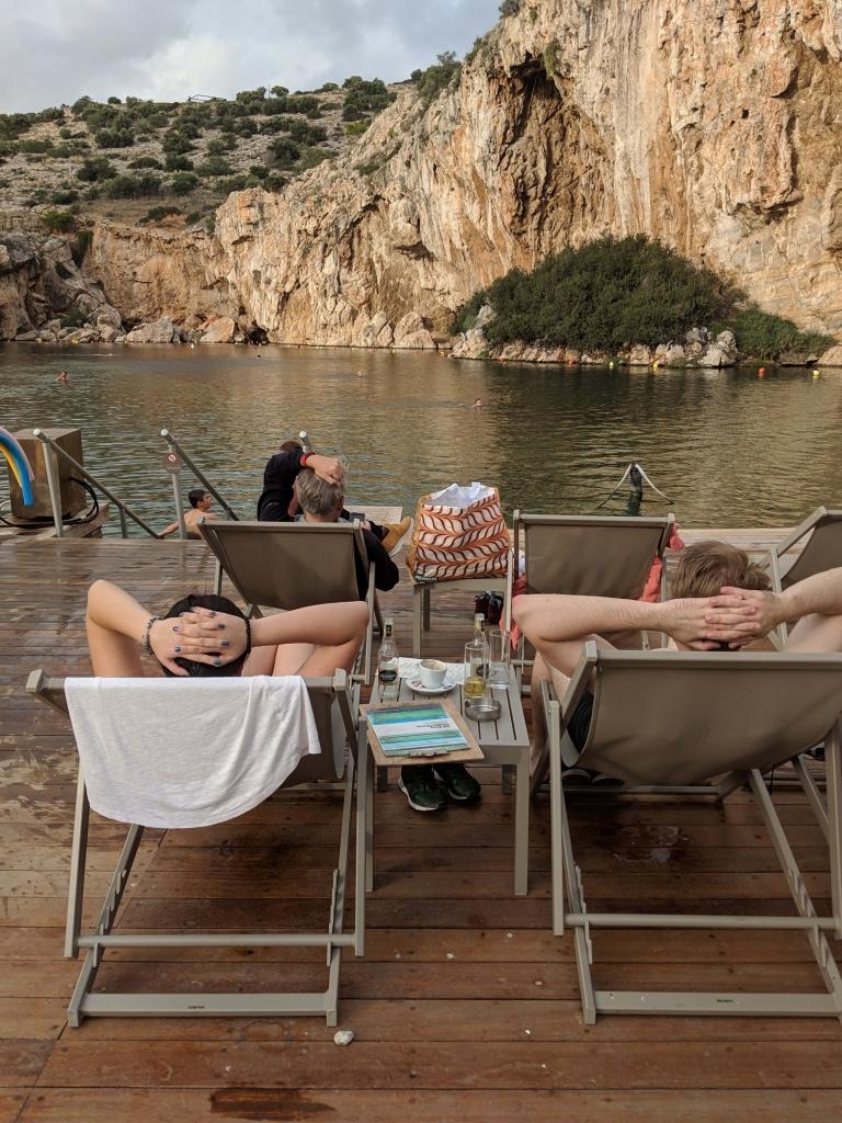Vouliagmeni meer en hotspring bij Athene