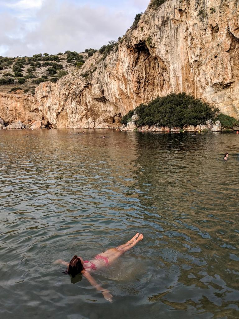 Vouliagmeni Lake en spa Griekenland