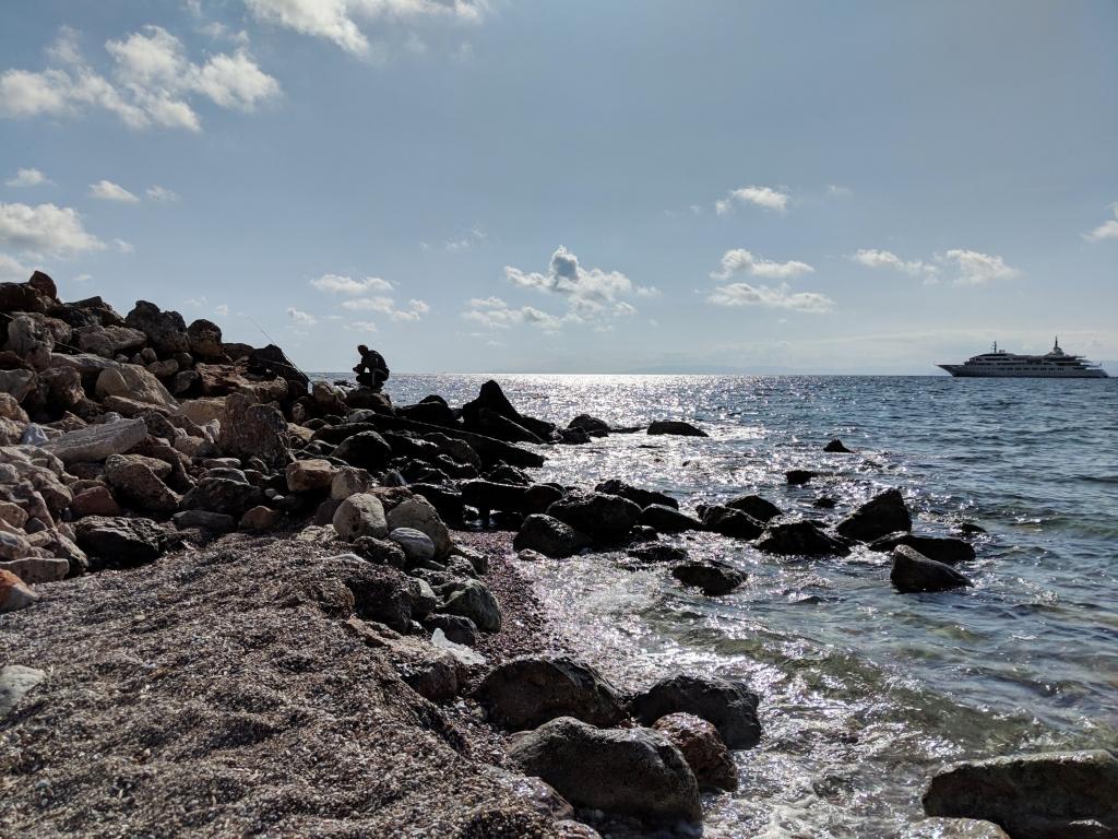 Glyfada beach bij Athene