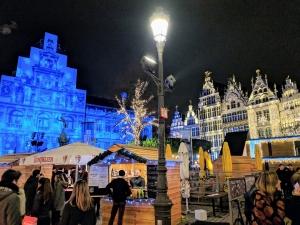 Grote markt Antwerpen winter