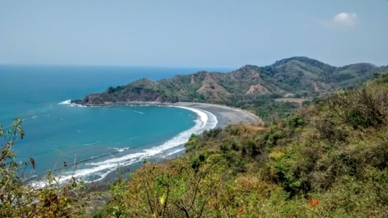 Cliff in Nicoya Costa Rica