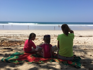 family beach Costa Rica