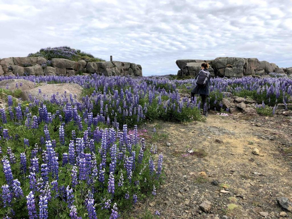 Hanging rock Iceland