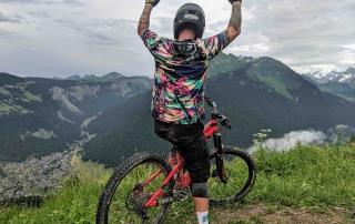 Mountain biking alpes
