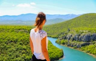 Cetina rivier viewpoint