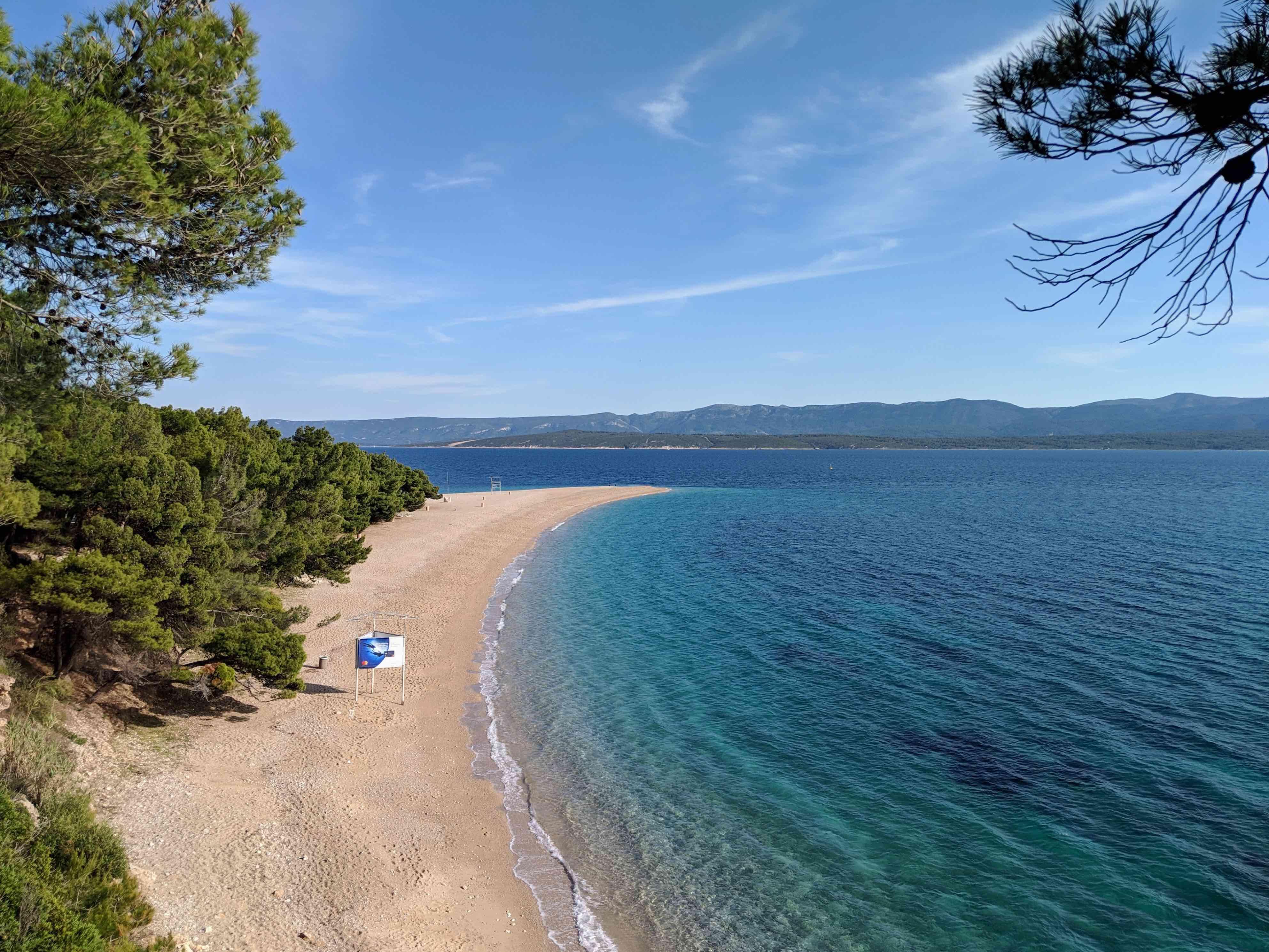 Famous beach Brâc