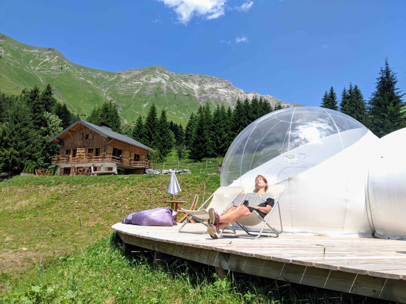 Bubble tent Morzine