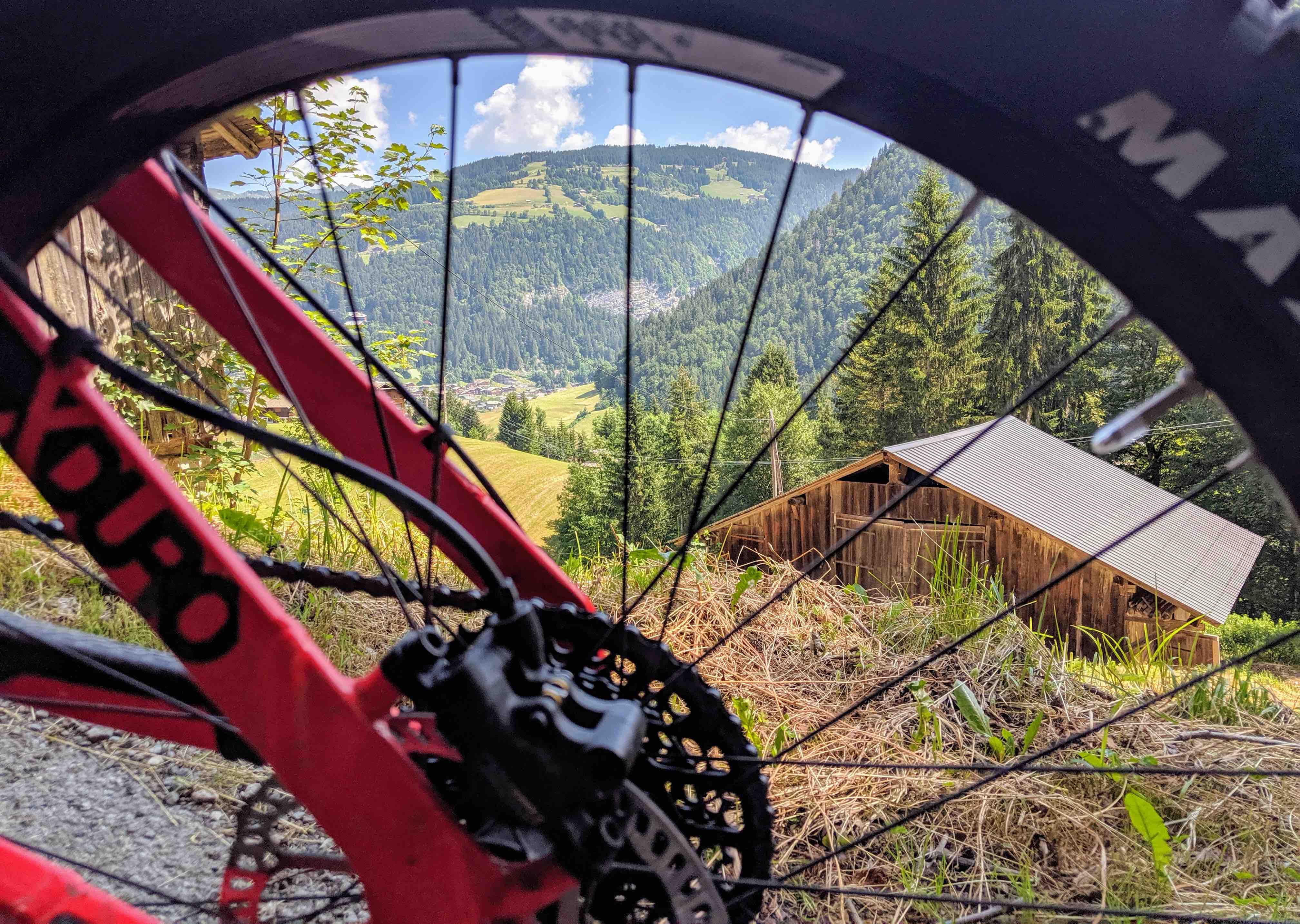 E-mountainbike in the alps