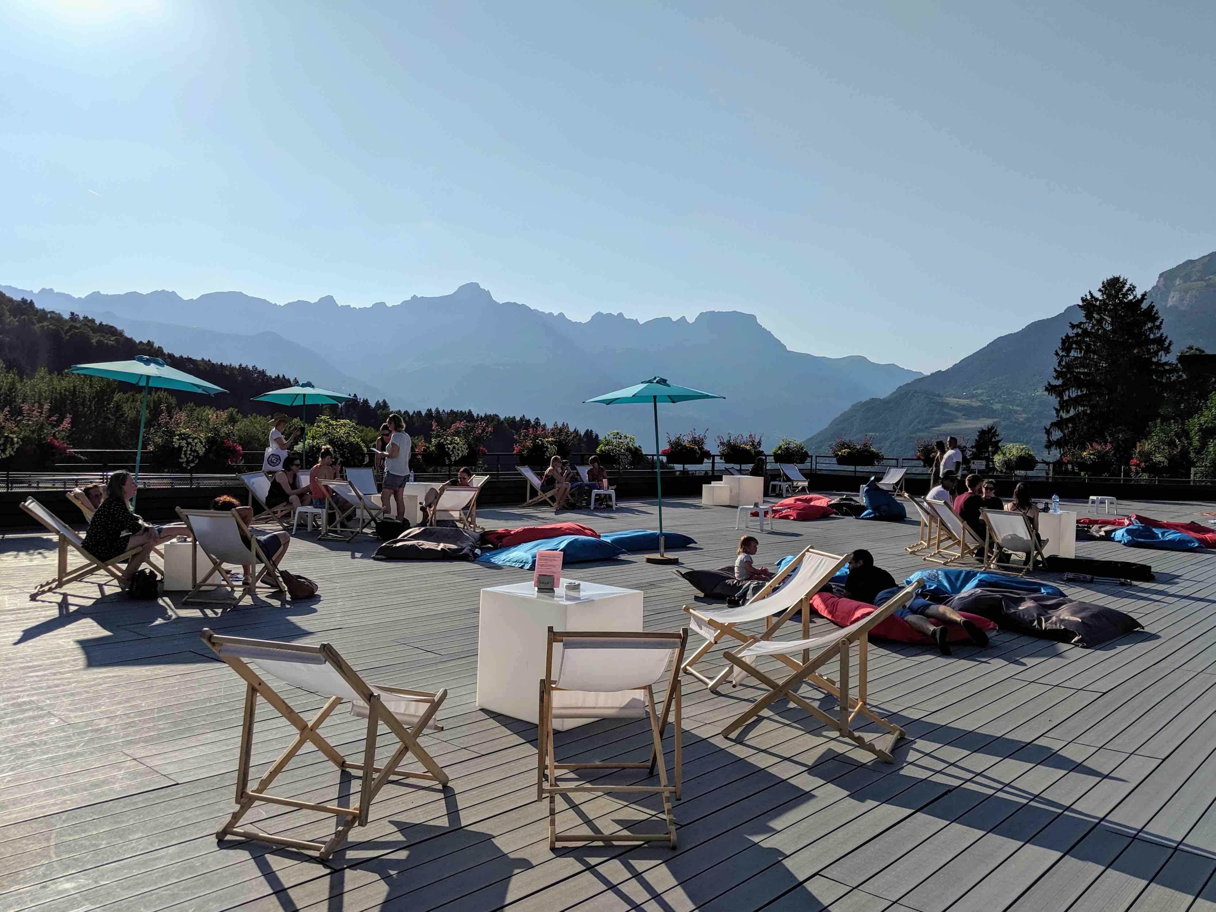 Public terrace in Saint Gervais