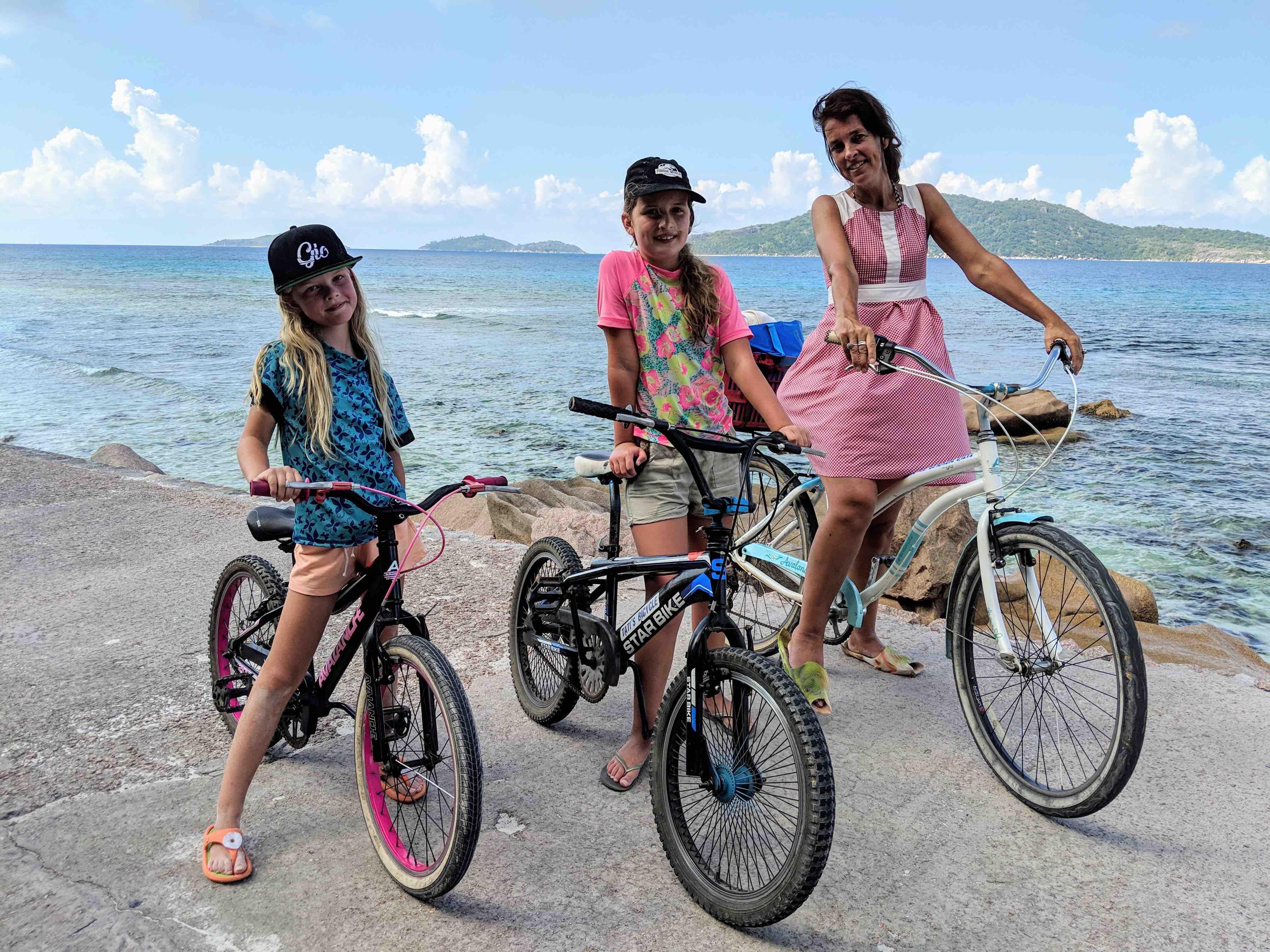 Biking in La Digue Seychelles