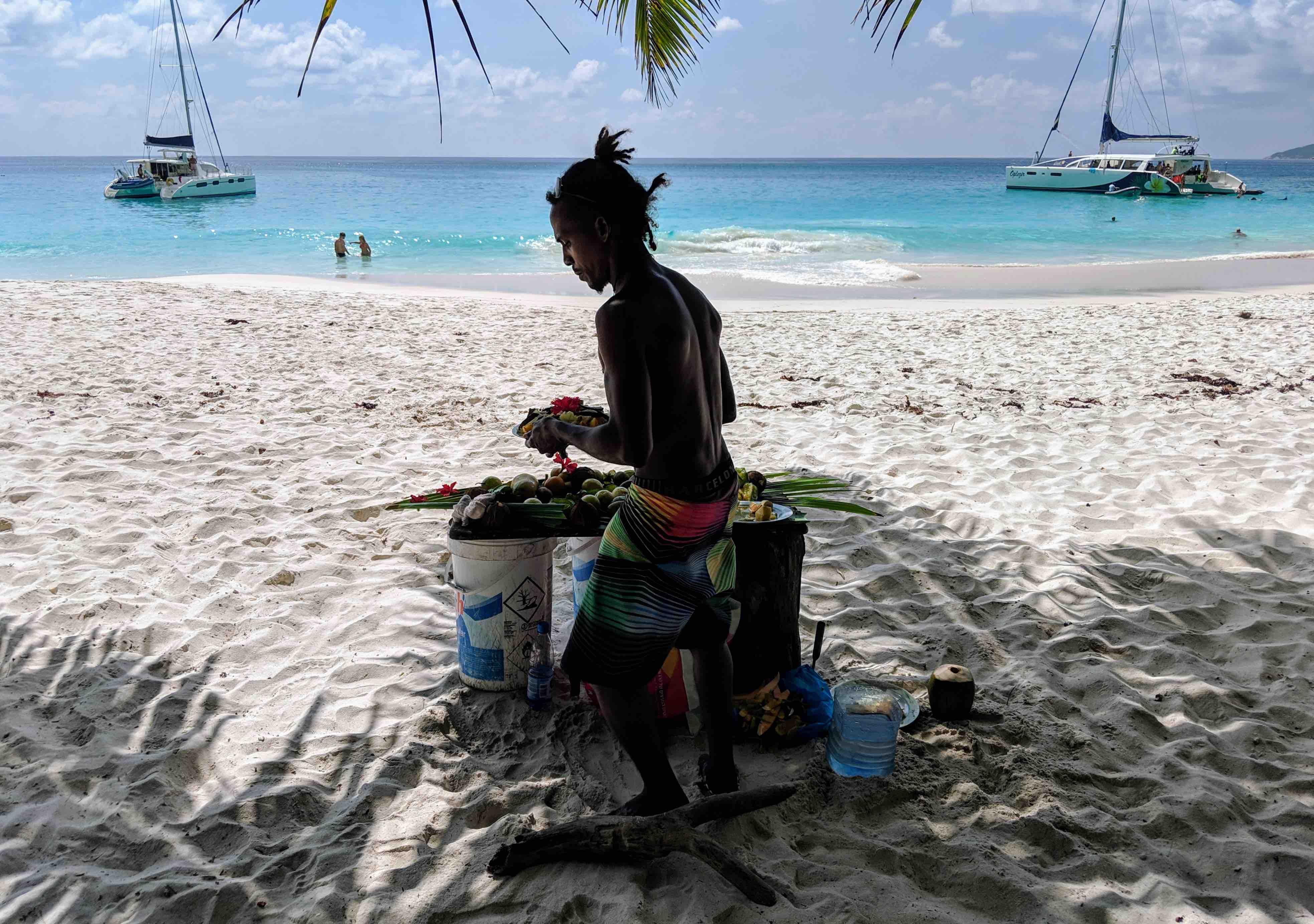 Gorgeous beach Praslin