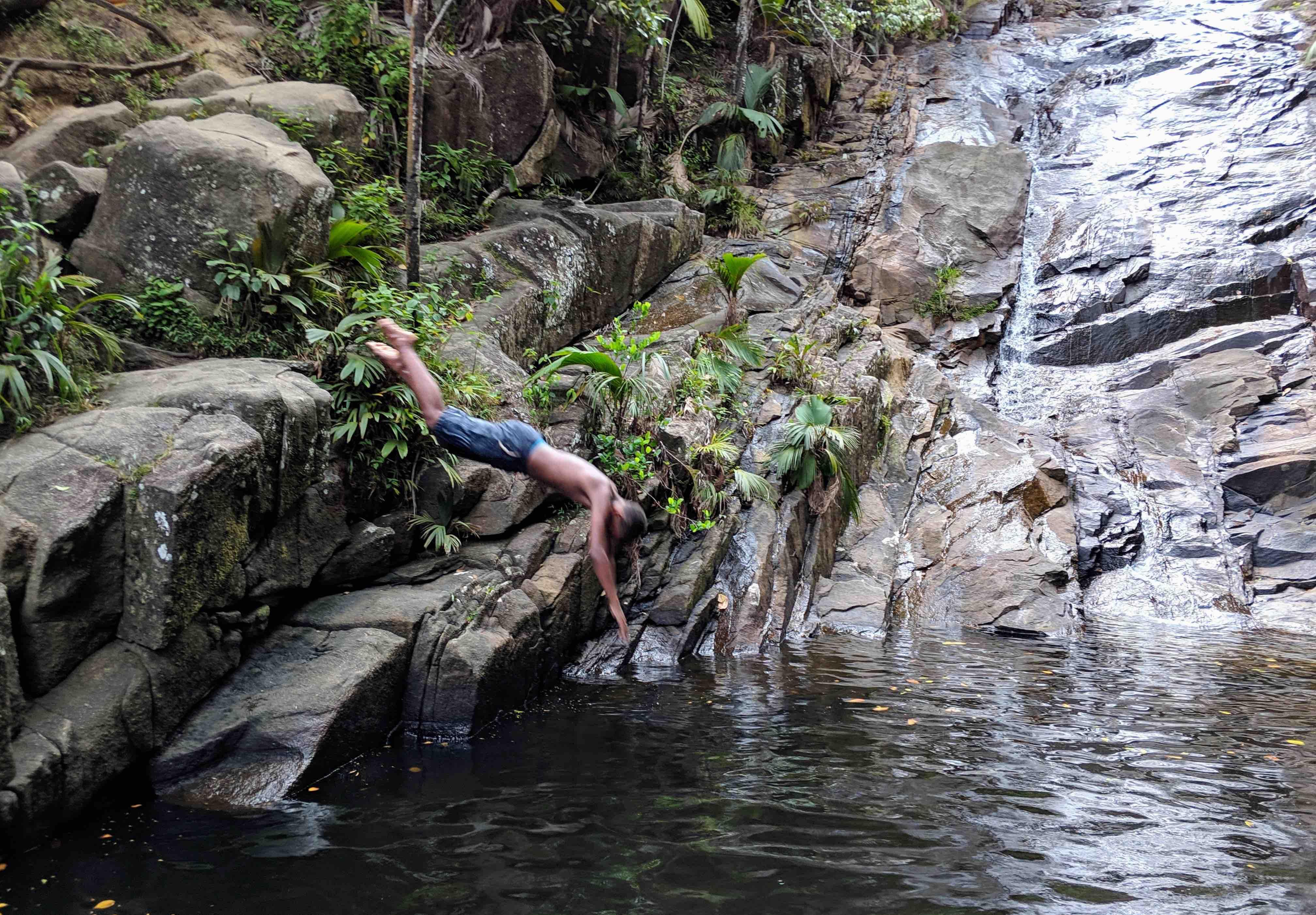 Waterfall seychelles