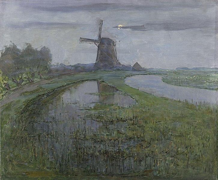 Schilderij Piet Mondriaan Abcoude