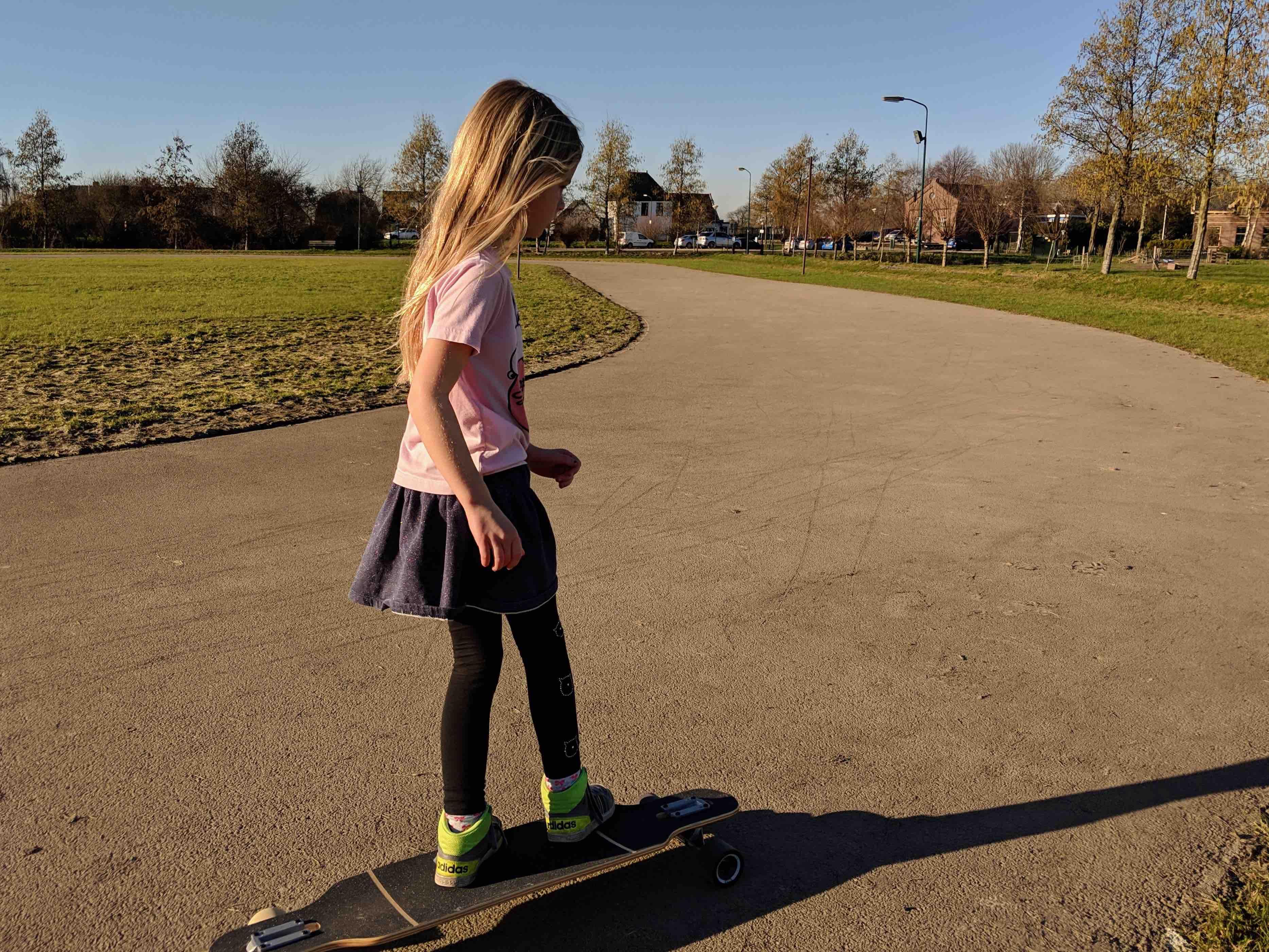 Skateboarden met kinderen