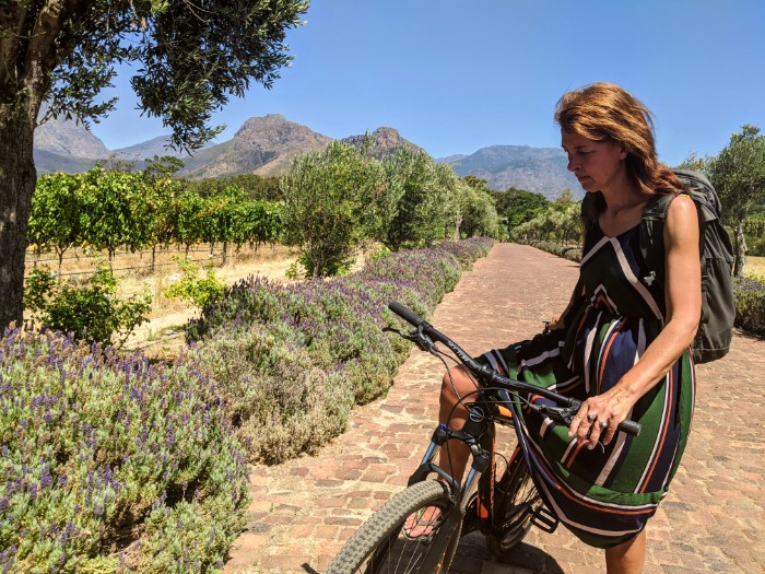 Fietsen Kaapse wijnlanden