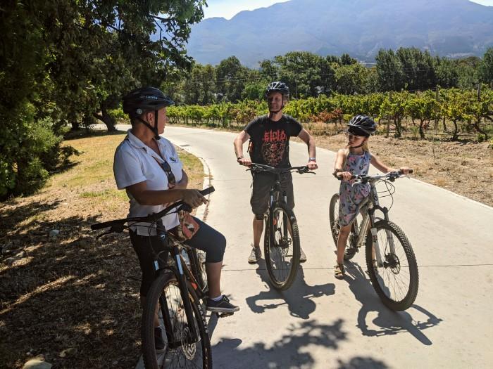 Wine and bike tour