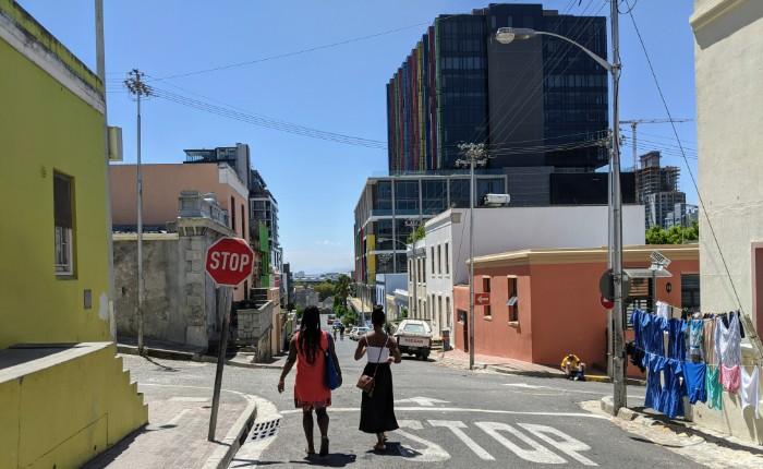 Kleurrijke wijk Kaapstad