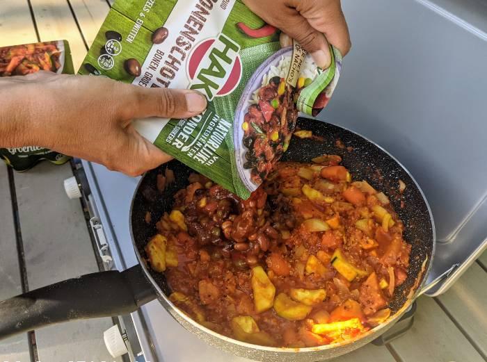 Vegan koken op de camping