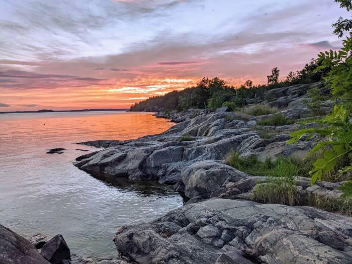 Sunset Stockholm archipelago