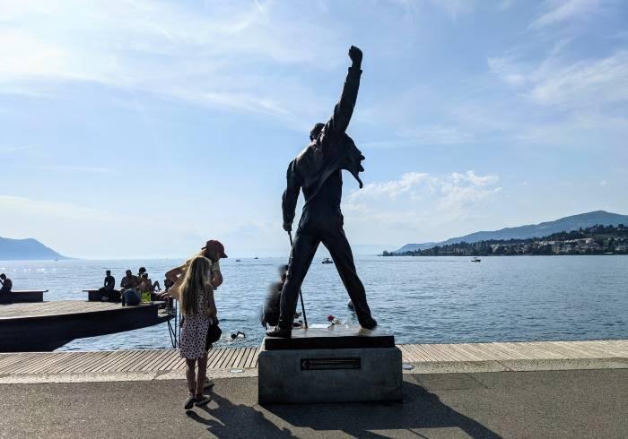 Beeld Freddy Mercury Montreux